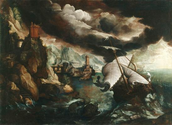Пауль Бриль. Кораблекрушение с пророком Ионой. 1600