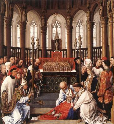 Рогир ван дер Вейден. Эксгумация святого Юберта