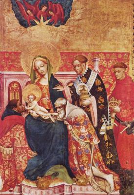 Конрад фон Зост. Алтарь Девы Марии, правая створка внутри: Поклонение волхвов