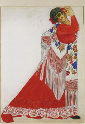 Natalia Sergeevna Goncharova. Costume Gypsy