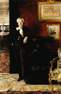 Жан-Франсуа Рафаэлли. Портрет Эдмона Гонкура