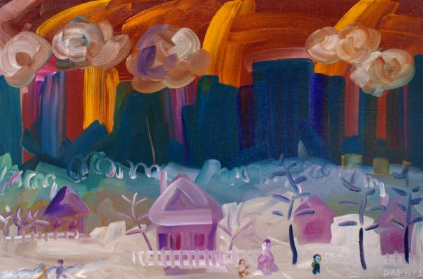 Kandinsky-DAE. Winter near a large city. /Peace. Series-Siberia, Baikal/