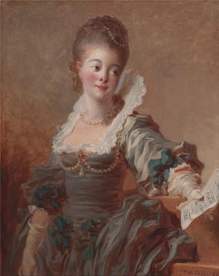 Jean-Honore Fragonard. Singer