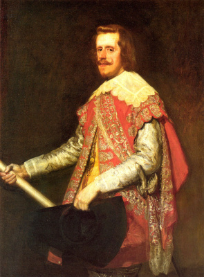 "Diego Velazquez. Portrait of Philip IV in a military suit (""La Fraga"")"