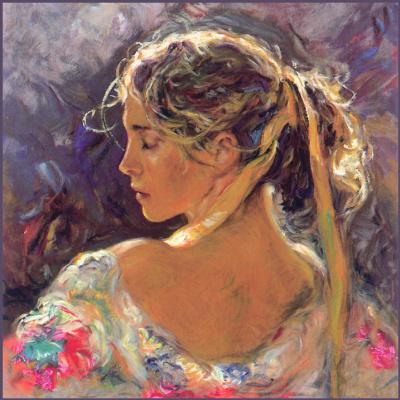Хосе Ройо. Портрет девушки в солнечный день