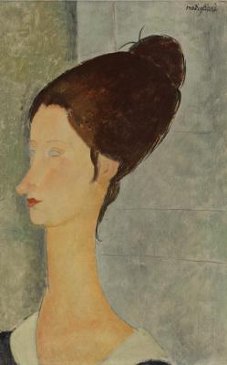 Amedeo Modigliani. Portrait of Jeanne hébuterne in profile