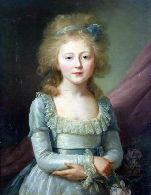 Жан Луи Вуаль. Портрет великой княгини Елены Павловны в детстве