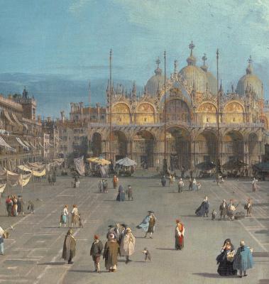 Джованни Антонио Каналь (Каналетто). Площадь Святого Марка (фрагмент)