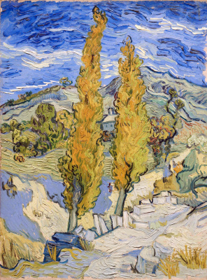 Vincent van Gogh. Two poplars on a road to the hills
