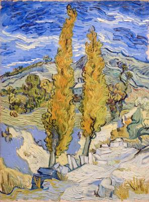 Винсент Ван Гог. Два тополя по дороге к холмам