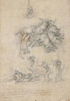 Michelangelo Buonarroti. The Fall Of Phaeton