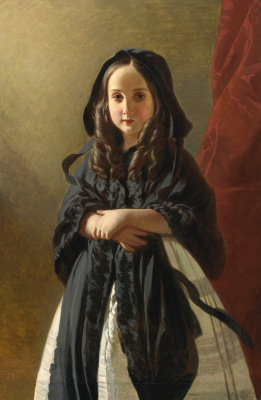 Franz Xaver Winterhalter. Portrait of Charlotte of Belgium, daughter of king Leopold I