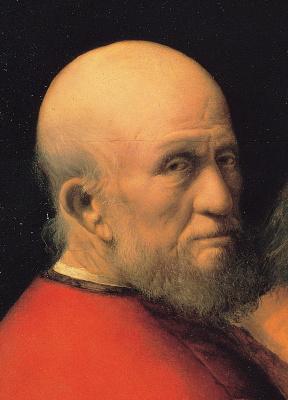 Giorgione. Three age men. Old man