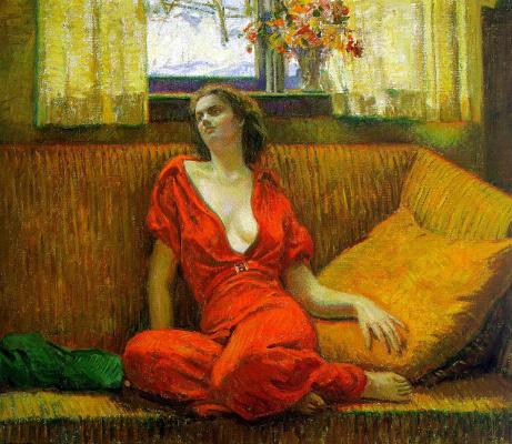 Уилсон Генри Ирвайн. Девушка в красном