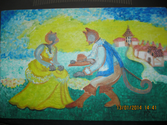 "Olga Evgenevna Klimova. ""SAGA"", a fairy-tale image in the children's room, tempera, cardboard"