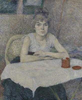 Анри де Тулуз-Лотрек. Девушка за столом, рисовая пудра