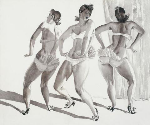 Alexander Alexandrovich Deineka. Variety dance. Burlesque