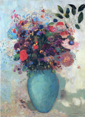 Odilon Redon. Flowers in a turquoise vase