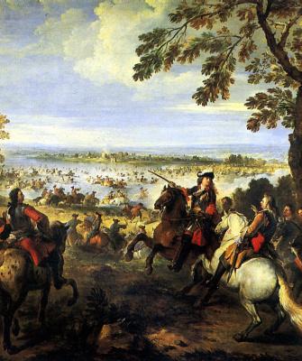 Жозеф Парросель. Переправа через Рейн армии Людовика XIV