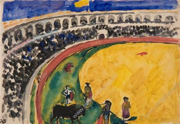 Petr Petrovich Konchalovsky. The bullfight in Seville