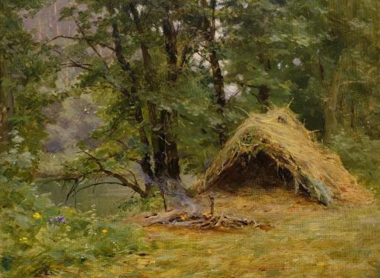Kondrat Evdokimovich Maksimov. Hut