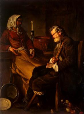 Жан-Батист-Мари Пьер. Старик в кухне