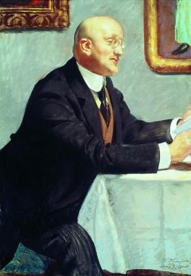 "Boris Mikhailovich Kustodiev. Portrait Of Igor Emmanuilovich Grabar. Unrealized sketch for a group portrait artists society ""World of art"""