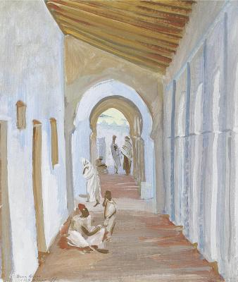 Alexander Yakovlev. Drawing of a portico, Algeria. 1924