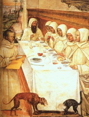 Giovanni Antonio Bazzi (Sodom). Meal