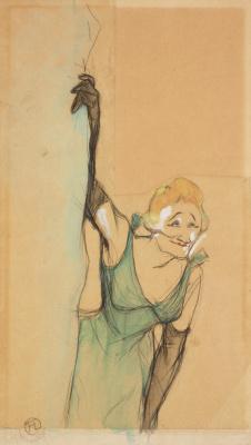 Henri de Toulouse-Lautrec. Yvette Gilber before the curtain