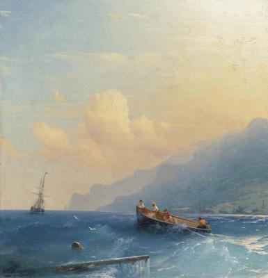Ivan Aivazovsky. The search for survivors