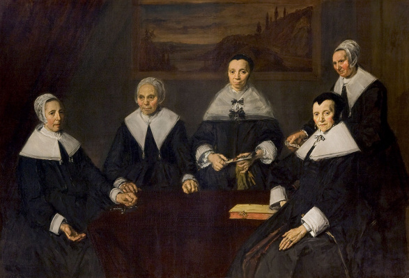 Frans Hals. Group portrait of Regents shelter for the elderly in Harlem
