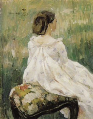 Victor Elpidiforovich Borisov-Musatov. Seated woman. Voronezh Regional Art Museum. I.N. Kramskoy