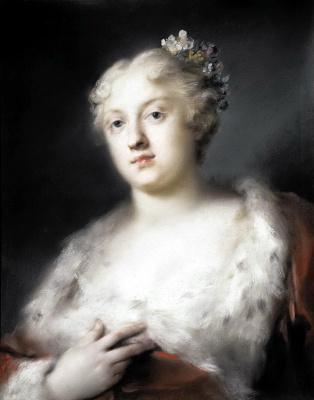 Розальба Каррьера (Каррера). Портрет молодой дамы в платье