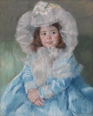Mary Cassatt. Margot in blue