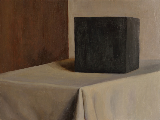 Pavel Viktorovich Petrov. Still life with black cube