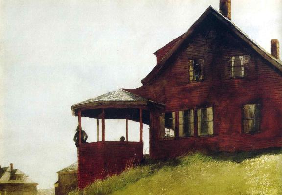 Jamie Wyeth. House on the hill