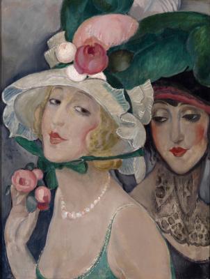 Gerda Wegener. Two yoke in hats (Lily and her friend)