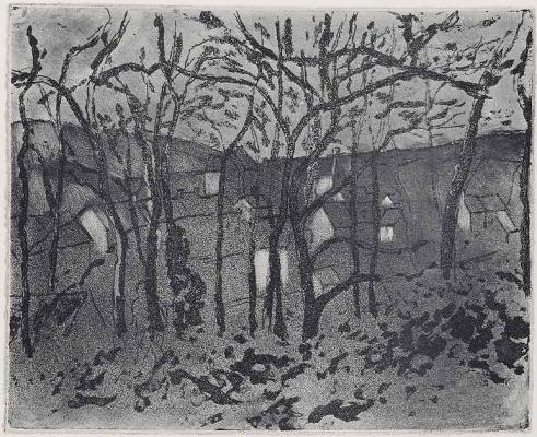 Camille Pissarro. Forest road PONTOISE