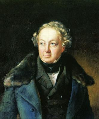 Василий Андреевич Тропинин. Портрет неизвестного в синей шубе