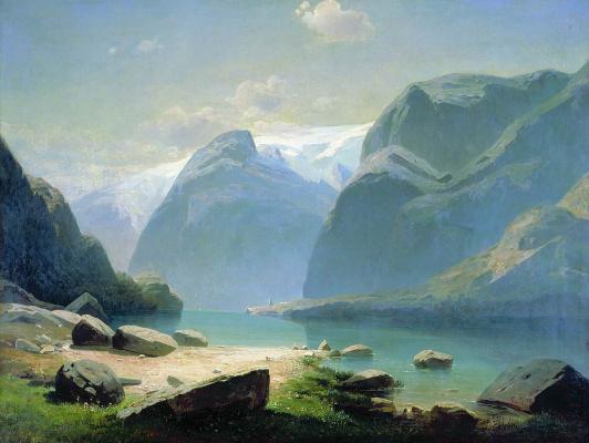 Алексей Кондратьевич Саврасов. Озеро в горах Швейцарии