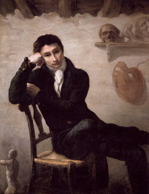 Théodore Géricault. Portrait of an artist in his studio