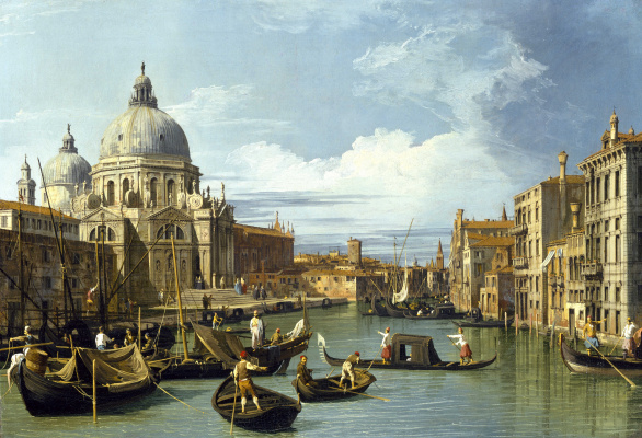 Giovanni Antonio Canal (Canaletto). Grand Canal and Church Salute