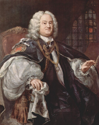 William Hogarth. Portrait of Bishop Bejamin Hodli