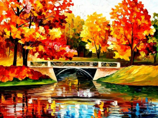 Leonid Afremov. The bridge