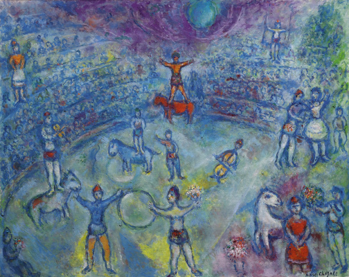 Marc Chagall. Circus arena
