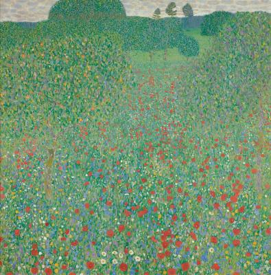 Gustav Klimt. Blooming poppies