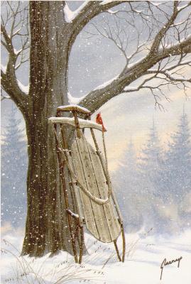 Кэти Гласнап. Дерево в снегу