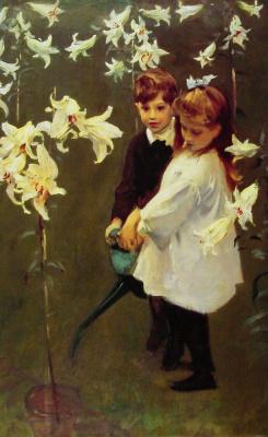 Джон Сингер Сарджент. Дети Виккерс в саду