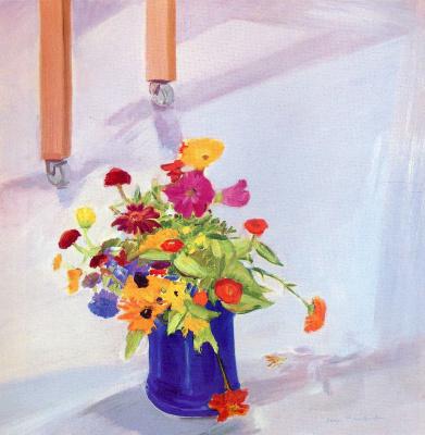 Джейн Фрейличер. Синяя ваза с цветами